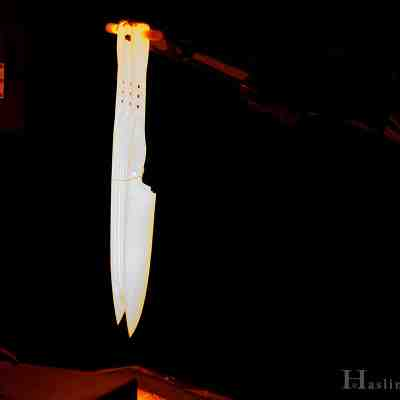 A blade coming out of a 2000 degree F furnace