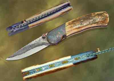 Campo del Cielo Meteorite Folding Knife