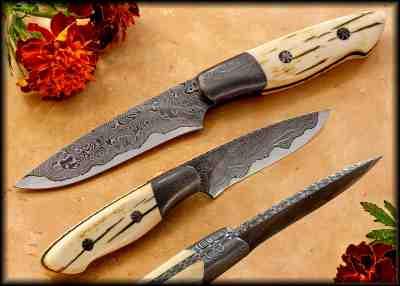 Kernmantel Damascus and Mammoth Ivory Hunter