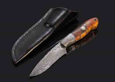 Selkirk Damascus Hunter with Stabilized Maple Handle
