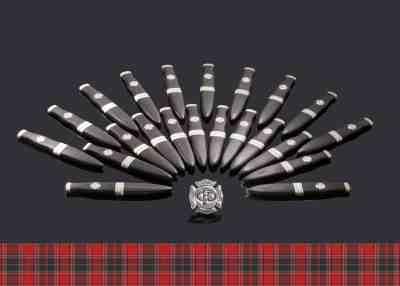 Sgian Dubh with German Silver Fittings and Red Jasper Pommel Stone
