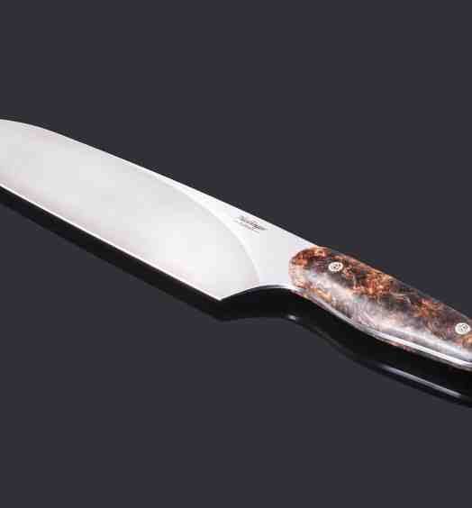 Evolution Chef Knife with Spalted Maple Handle 200mm