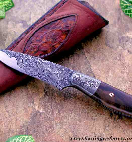 Damascus and Americal Walnut Bird and Trout