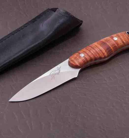 Fiddleback Maple Huntress in CPM S35-VN Stainless