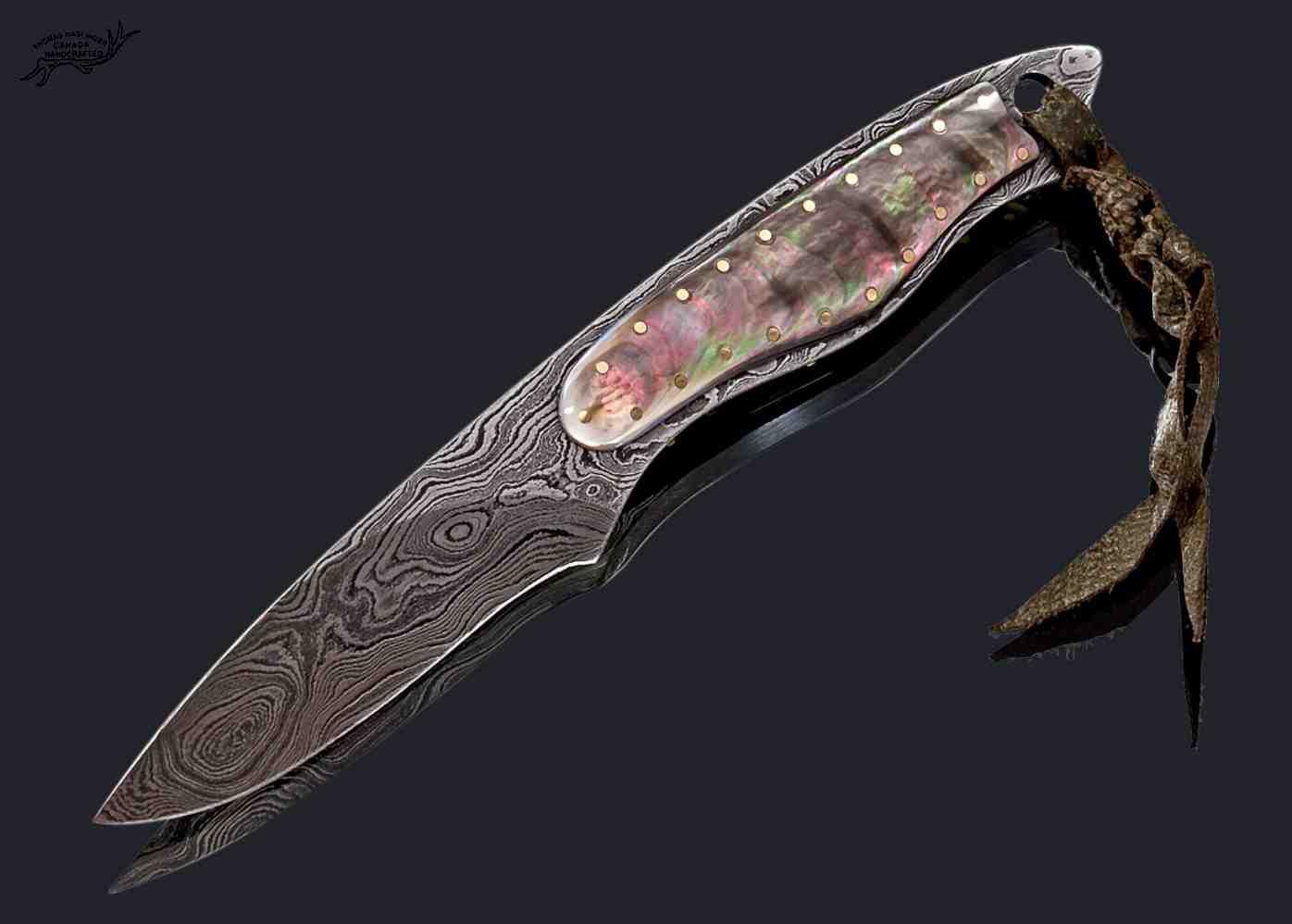 Black Lip Damascus Dress Knife