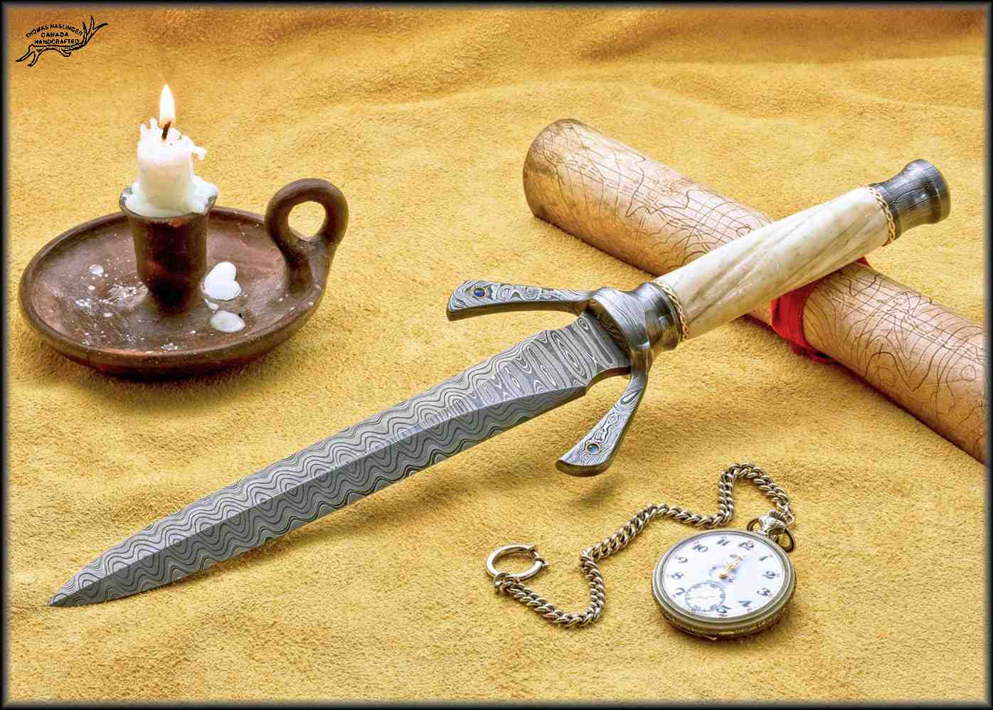 Hyperborian Dagger with Narwahl Tusk