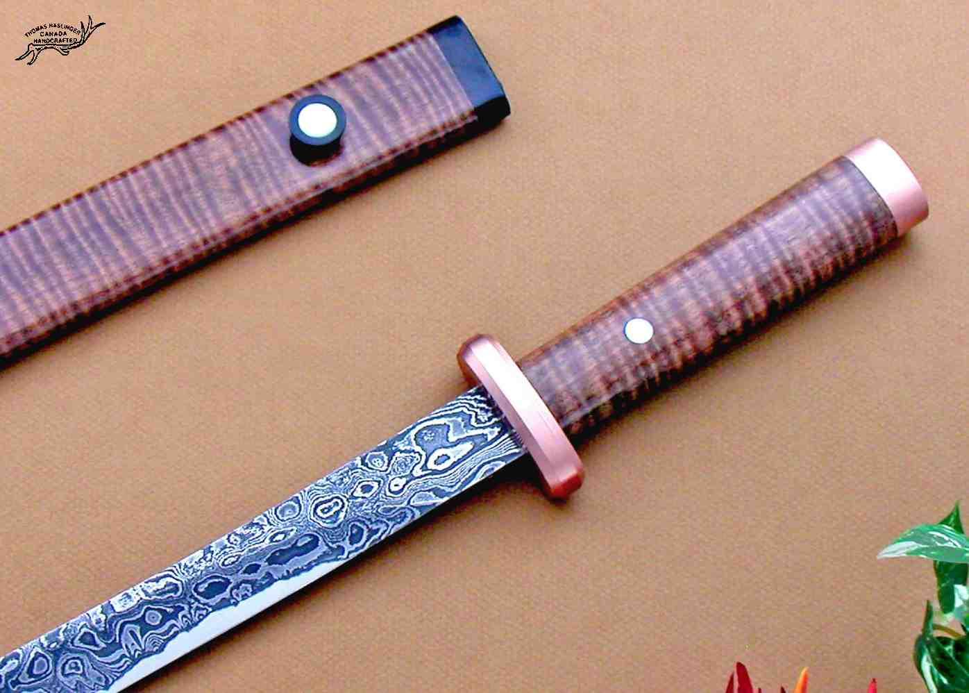 Makori Wakazashi close up