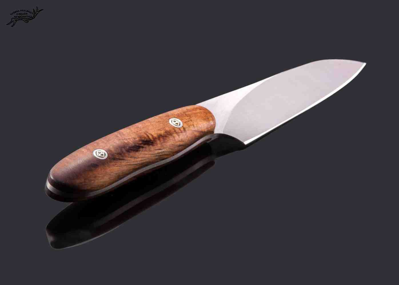 Santuko paring knife handled in spalted koa
