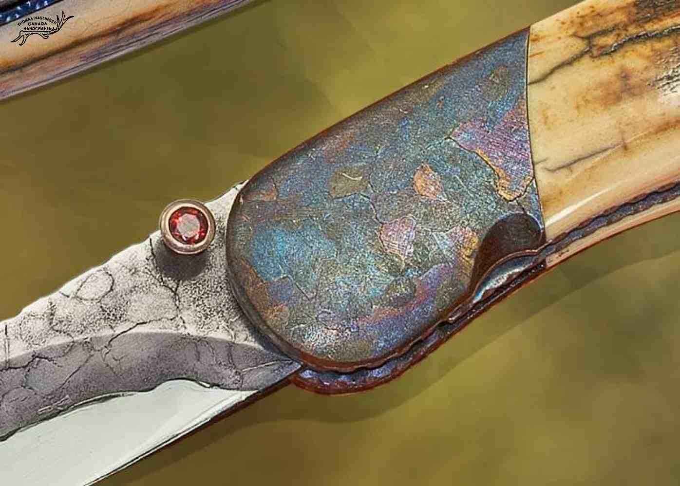 Campo del Cielo Meteorite Folding Knife Thumbstud