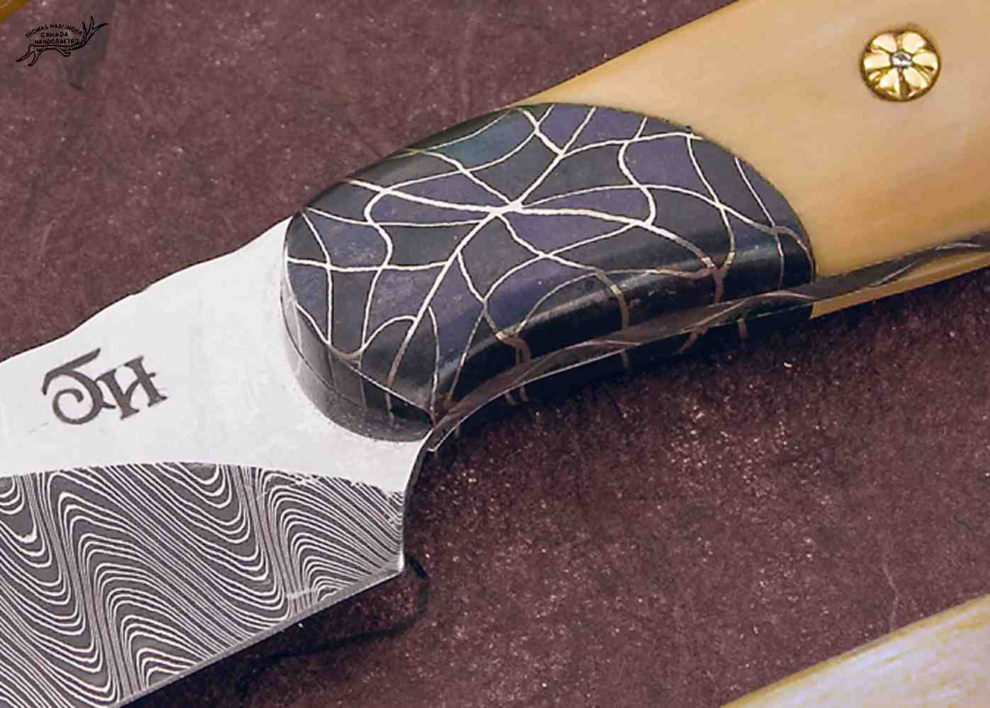 Forged Storm Hunting Knife Mosaic Damascus