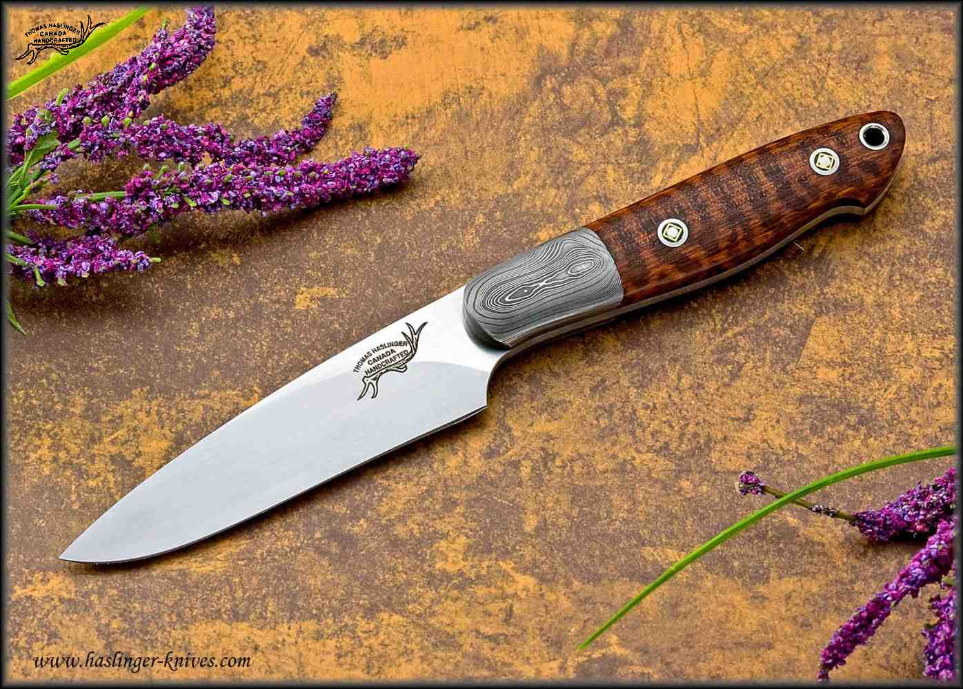 Snakewood Hunter with Damascus Bolsters