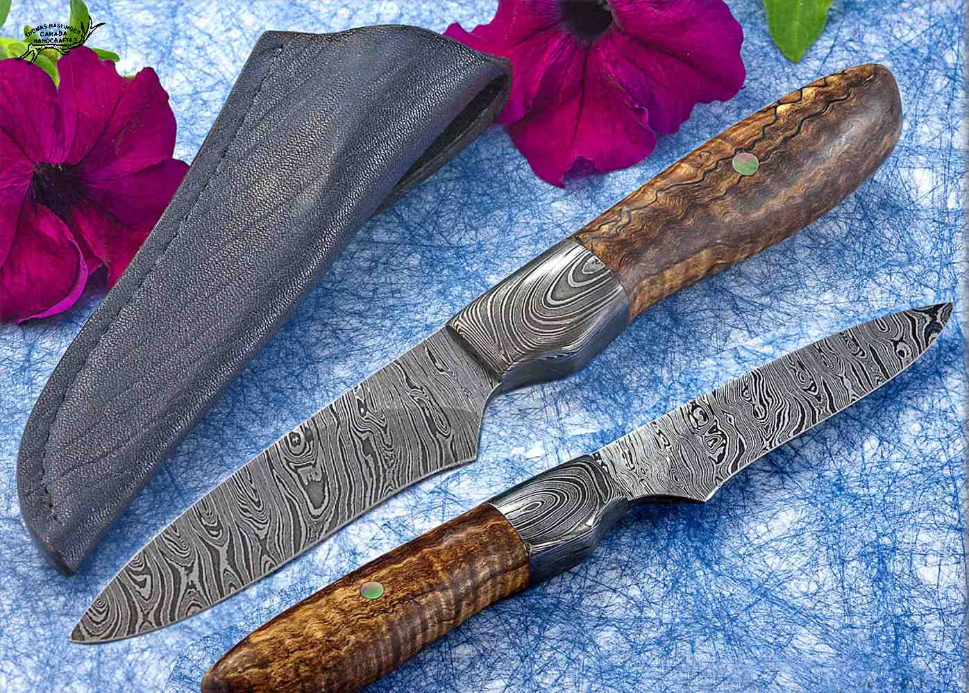 Twisted Damascus and Maple Hunter