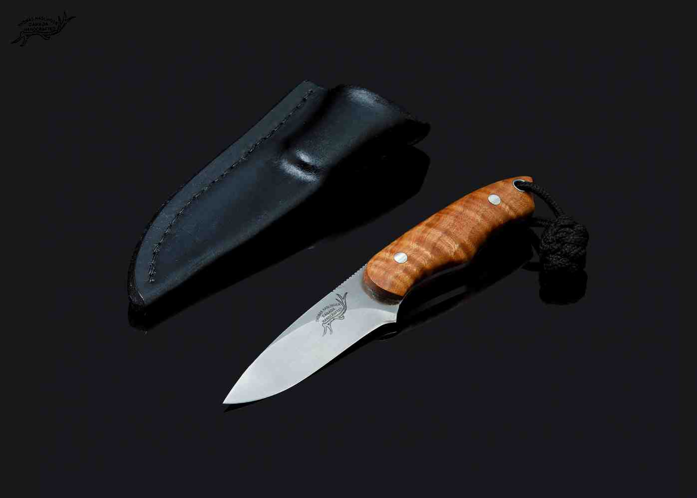 Fiddleback Maple Utility in CPM S35-VN Stainless w/ sheath